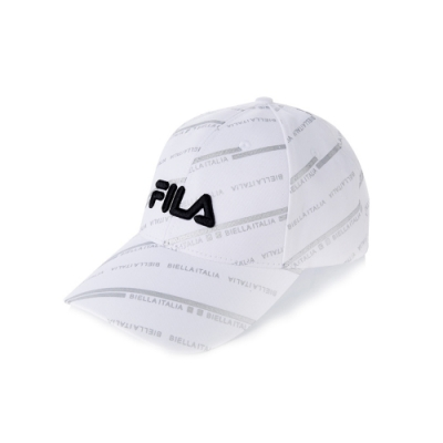 FILA 時尚LOGO帽-白 HTV-1102-WT