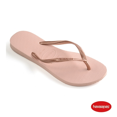 Havaianas哈瓦仕 拖鞋 夾腳拖 人字拖  巴西 女鞋 芭蕾粉 4000030-0076W Slim