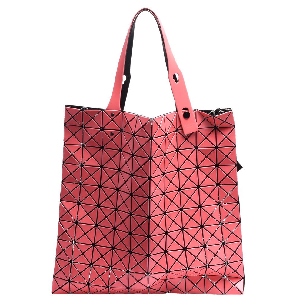 ISSEY MIYAKE 三宅一生BAOBAO幾何方格10X10手提包(粉)