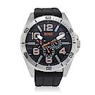 Hugo Boss 多功能矽膠錶帶運動男腕錶(H1512945)-48mm