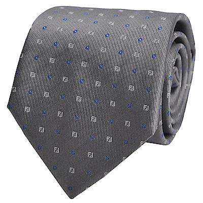 FENDI  經典品牌LOGO圖騰領帶(灰色系)
