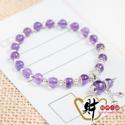 財神小舖 愛戀 葫蘆紫水晶 925純銀手鍊-人緣紫 (含開光) S-9106-1
