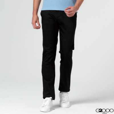 G2000斜紋休閒斜袋長褲-黑色