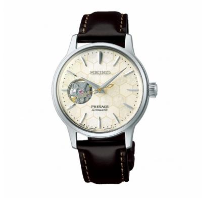 SEIKO PRESAGE 銀座蜂巢限量機械腕錶(SSA781J1)小款33.8mm