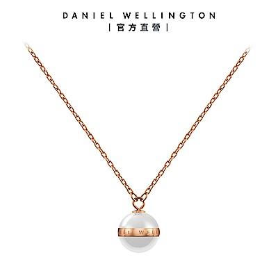【Daniel Wellington】官方直營 Aspiration Necklace 純淨優雅項鍊-玫瑰金x白 DW項鍊