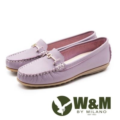 W&M 經典款 真皮莫卡辛豆豆鞋 女鞋-粉(另有黑)