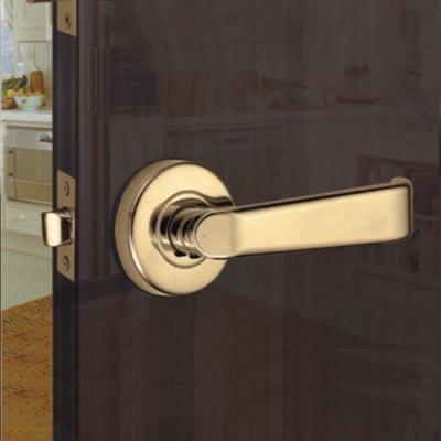 WACH 花旗門鎖 平直型 水平把手 金色 W402-1(無鎖匙)下座 平頭型 水平鎖