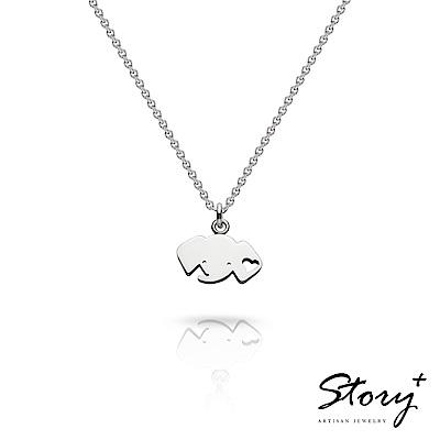 STORY故事銀飾-祈福項鍊 卡片銀飾小象款