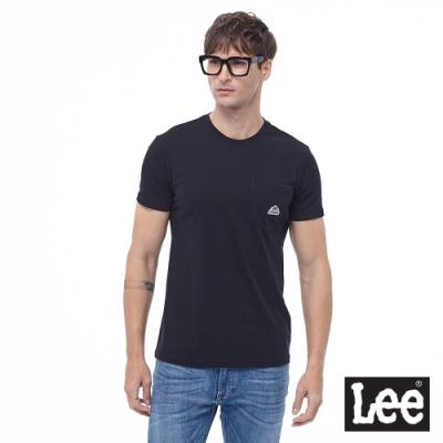 Lee 短T 口袋LOGO織標 圓領 男 黑