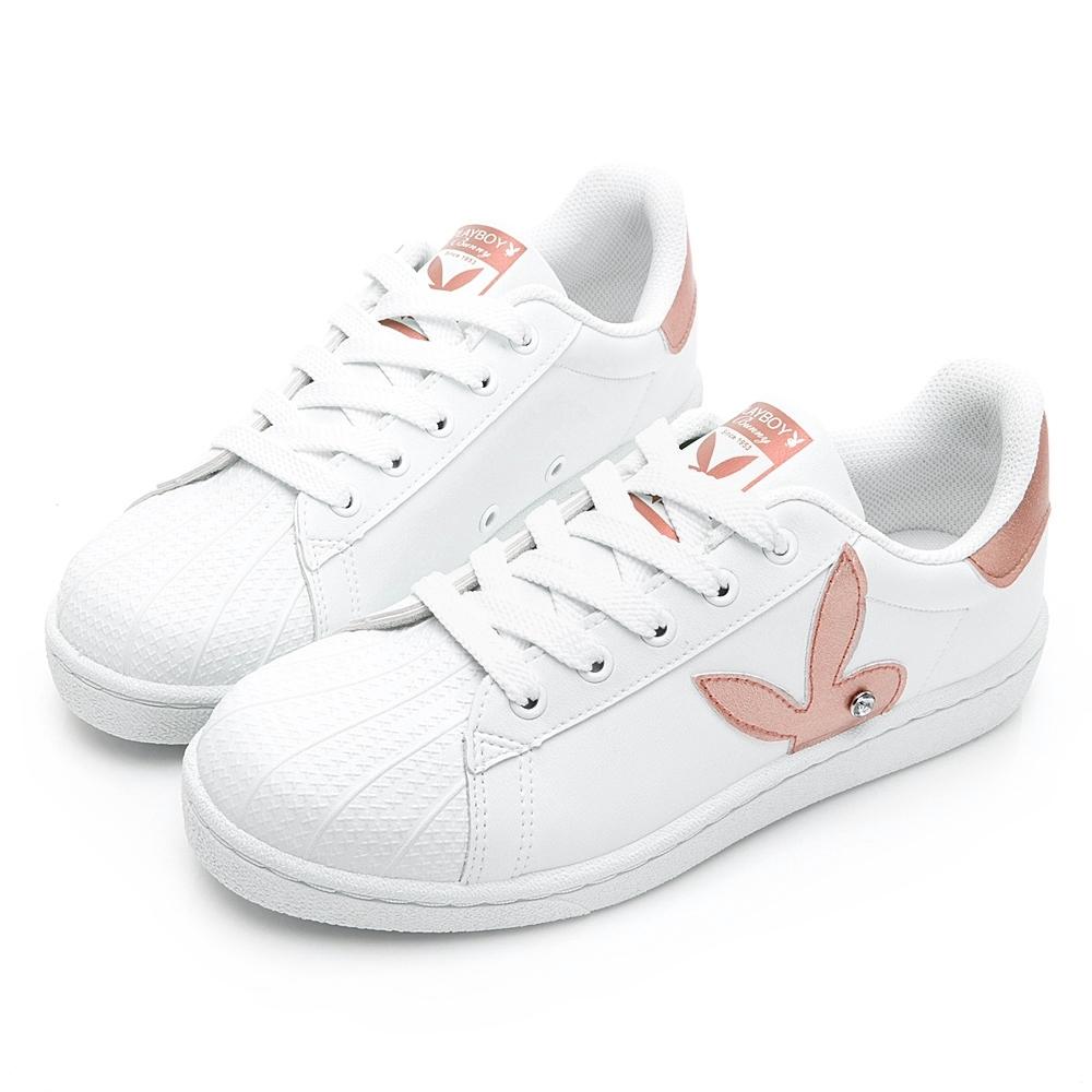 PLAYBOY簡約兔頭休閒貝殼鞋-玫瑰金-Y62261H