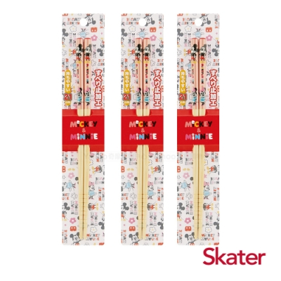 Skater日式竹筷(21cm)米奇與米妮3入組