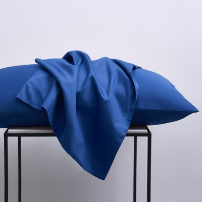 澳洲Simple Living 300織台灣製純棉美式信封枕套-二入(普魯士藍)