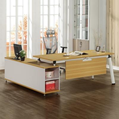 MUNA 提姆6尺辦公桌組(含側櫃) 200X180X75cm