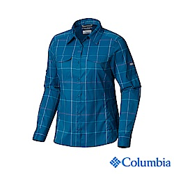 Columbia 哥倫比亞 女款-UPF40快排長袖襯衫-藍色格紋 UAK14980