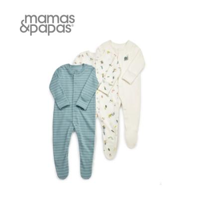 Mamas&Papas 蟲蟲龐克-連身衣3件組