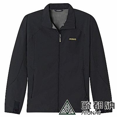 【ATUNAS 歐都納】男款WINDSTOPPER大尺碼防風外套A-G1517M黑