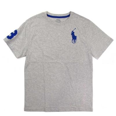 Polo Ralph Lauren 大馬Logo淺灰色3號馬球短袖圓領棉T
