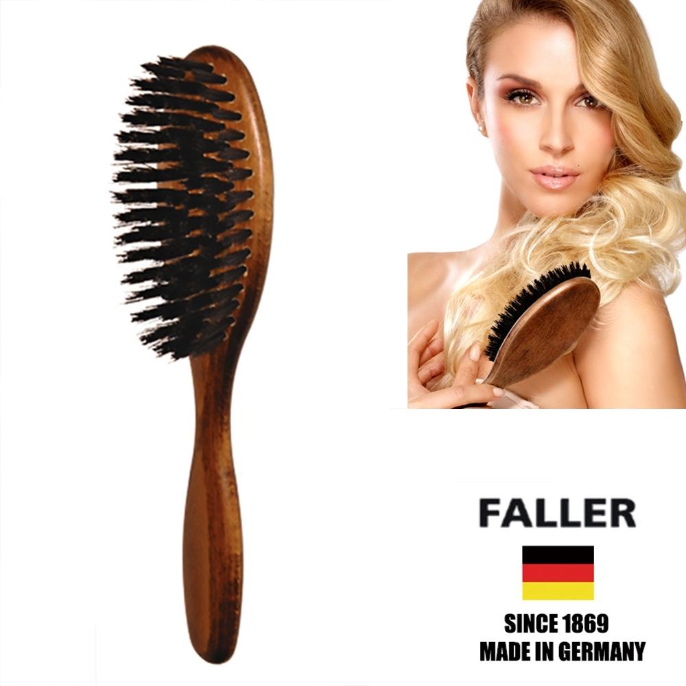 FALLER芙樂德國製原木黑豚鬃美髮梳 (一入)