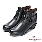 【CUMAR】率性柔美-西部牛仔風格腳踝纏繞流蘇帶短靴