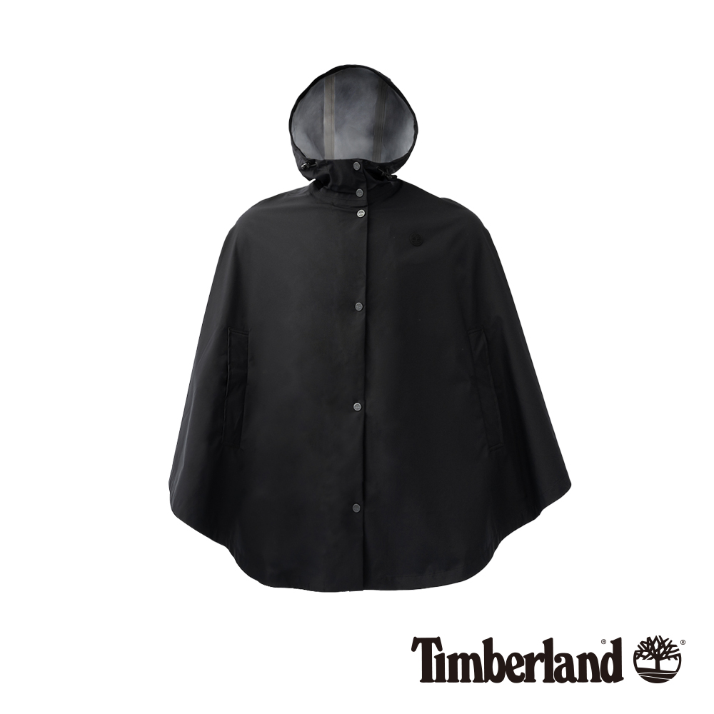 Timberland 女款黑色防水披肩外套   B1103