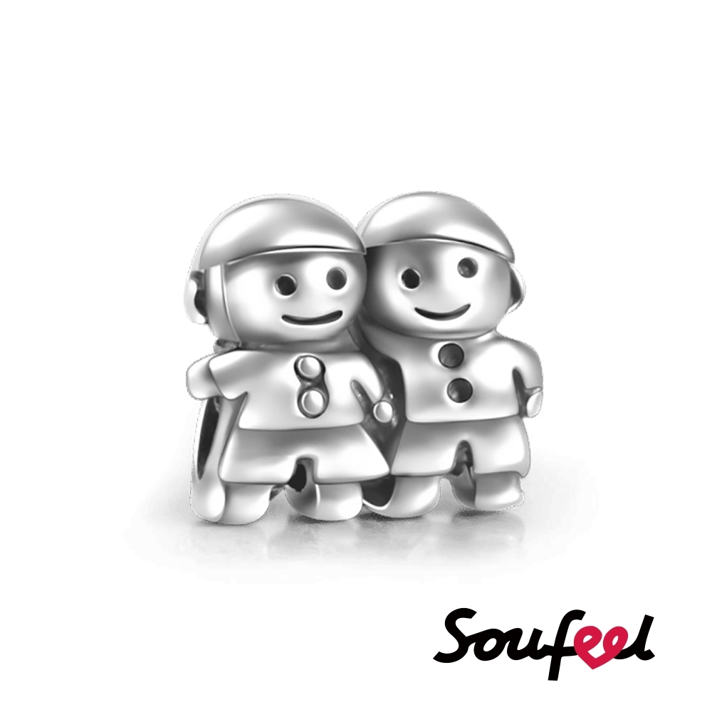 SOUFEEL索菲爾 925純銀珠飾 快樂兄弟 串珠