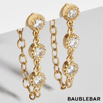美國 BaubleBar 歐式水晶鍍18K金鍊圈耳環 Pica 18k Gold Vermeil Drop Earrings