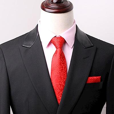 拉福   拉花領帶8cm寬版領帶拉鍊領帶 (兒童大紅)