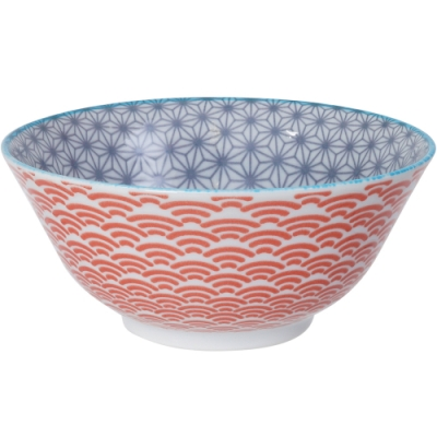 《Tokyo Design》圖騰餐碗(藍15.5cm)