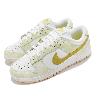 Nike 休閒鞋 Dunk Low OG 皮革 女鞋 YELLOW STRIKE 穿搭 小白鞋 黃 白 DM9467-700