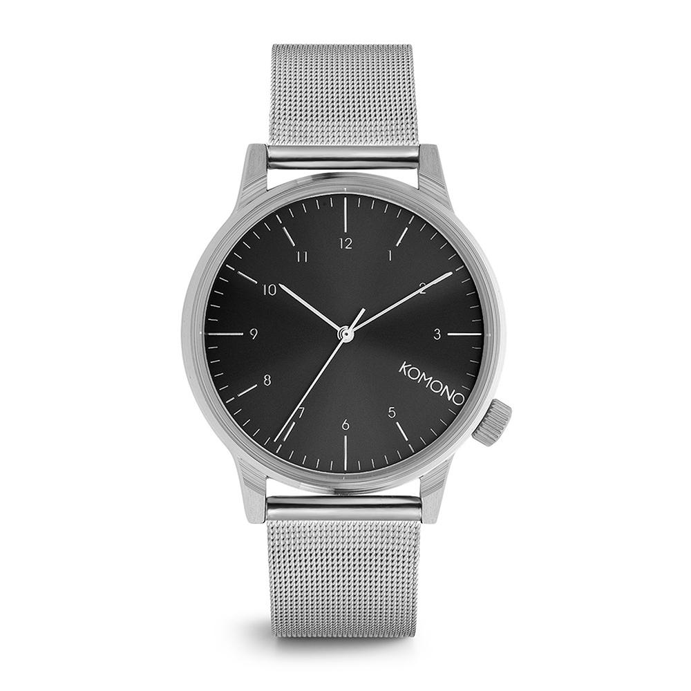 KOMONO Winston Royale 腕錶-太空銀x黑/41mm
