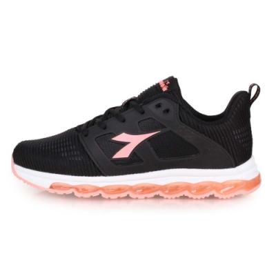 DIADORA 女 輕量慢跑鞋 黑粉