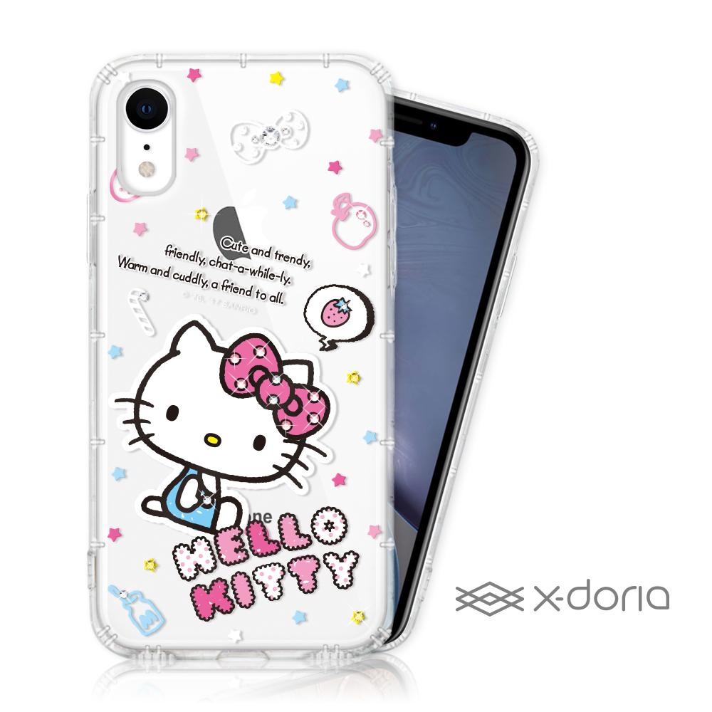 Hello Kitty iPhone XR 彩繪水鑽手機空壓殼 - 塗鴉