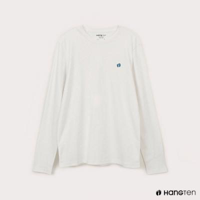 Hang Ten-男裝-腳ㄚ長袖T恤-白色