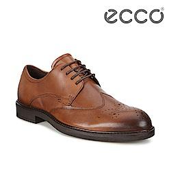ECCO VITRUS III 潮流正裝雕花紳士德比鞋 男-棕色