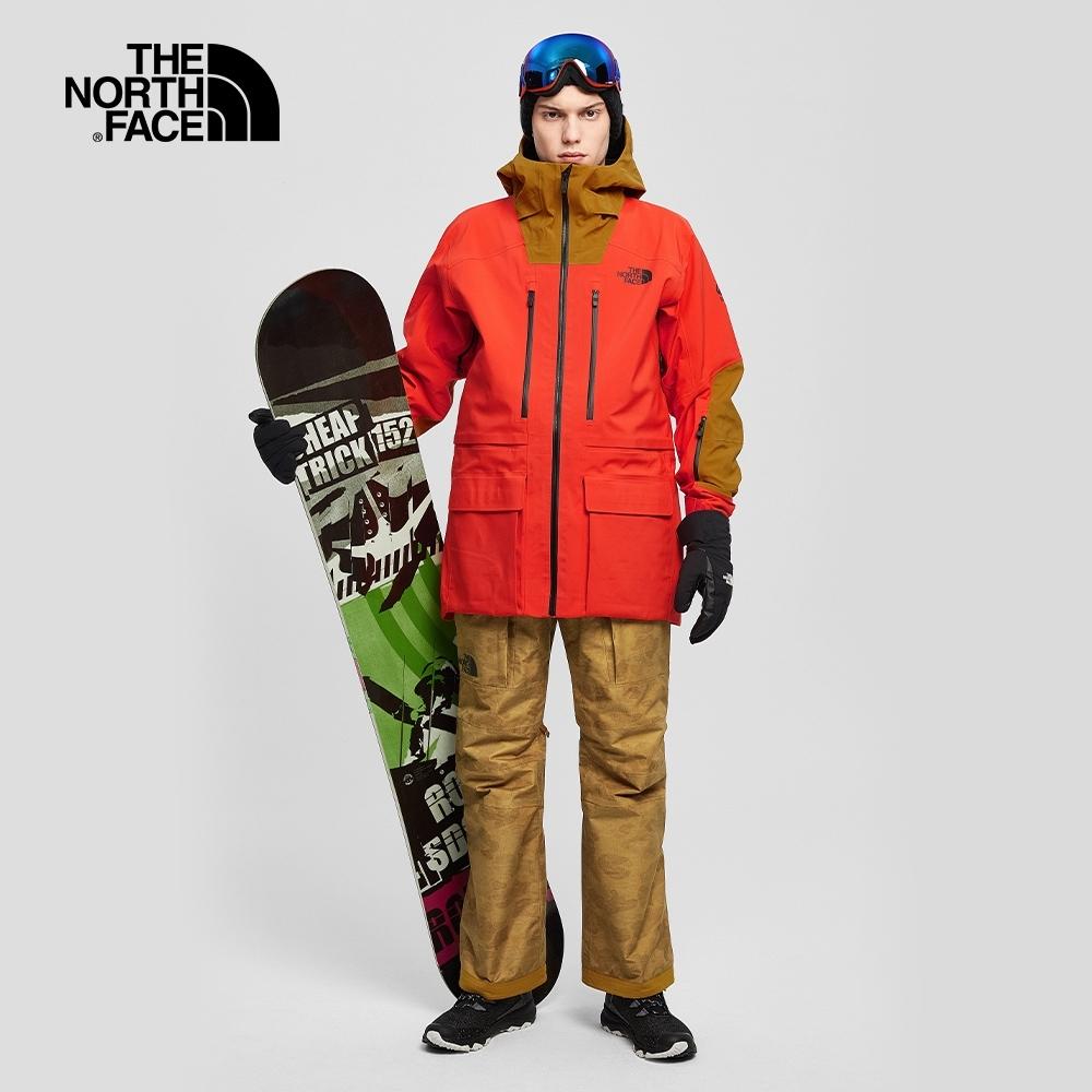 The North Face北面男款迷彩棕防水透氣衝鋒褲 3M42T49