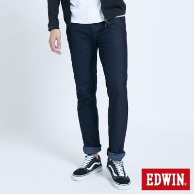 EDWIN JERSEYS 迦績 大尺碼 車織帶AB牛仔褲-男-原藍色