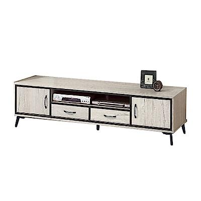 綠活居 波亞時尚6尺木紋電視櫃/視聽櫃-180x40x46cm-免組