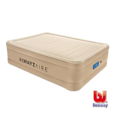 凡太奇 Bestway Queen雙人舒適款加高可調整AC自動充氣床-米白 69038E