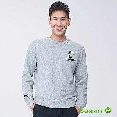 bossini男裝-圓領長袖運動衫02淺灰