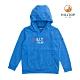 【hilltop山頂鳥】童款吸濕快乾彈性抗菌保暖刷毛上衣H51C90藍色 product thumbnail 1