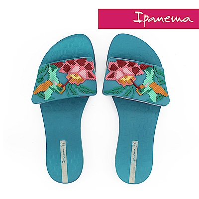 IPANEMA 女 艷夏派對一字拖鞋-藍綠色