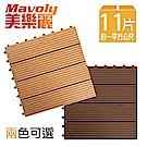 美樂麗 DIY 耐重/抗磨/防腐 條紋塑木地板 C-0234 (11片/箱)