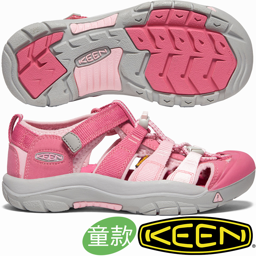 KEEN 1021236粉紅 NewPort H2青少年戶外護趾涼鞋