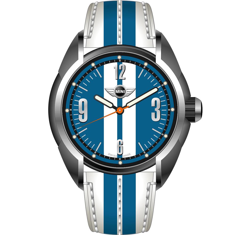 MINI Swiss Watches休閒運動腕錶(MINI-80)-白+藍/38mm