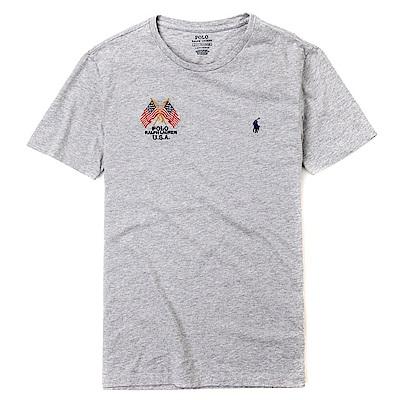 Polo Rlaph Lauren 年度熱銷旗幟小馬圓領素面短袖T恤-灰色