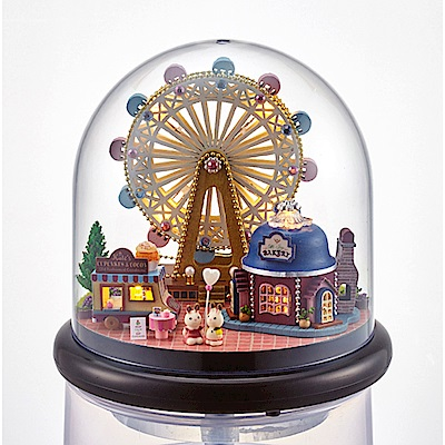 半島良品 DIY微景觀LED燈精緻小屋- 幸福吧摩天輪