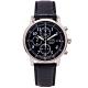 SEIKO 簡約時尚風計時的皮革錶帶手錶(SNDC33P1)-黑面x黑色/40mm product thumbnail 1