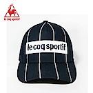 le coq sportif 法國公雞牌LOGO繡花復古線條鴨舌帽 丈青