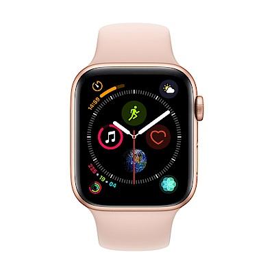 [無卡分期-12期] Apple Watch S4 +網路 44mm 金色鋁錶殼搭粉色錶帶