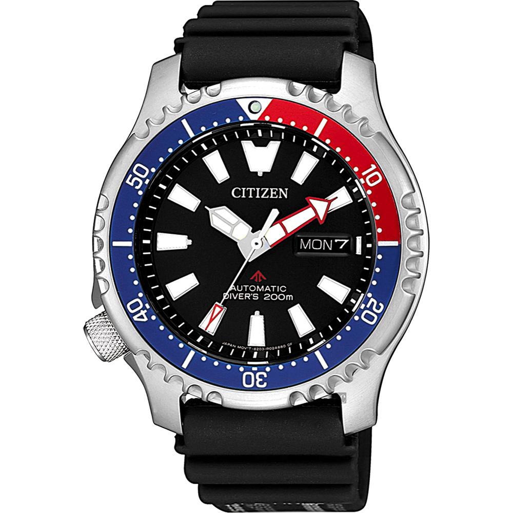 CITIZEN 星辰 PROMASTER 限量200米潛水機械錶-紅藍錶圈/42mm @ Y!購物